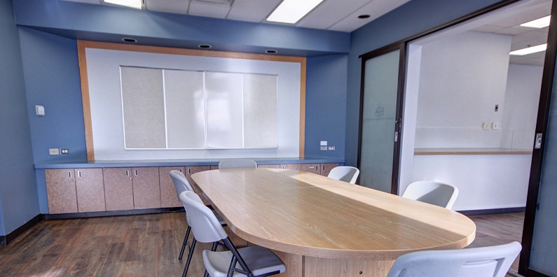 The Board Room would be a perfect satellite office to host meetings, pitch ideas to potential new clients.