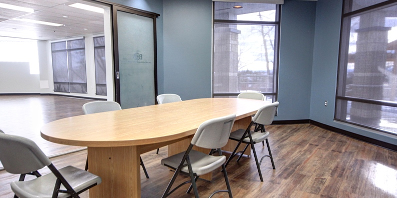 The Board Room can be rented with the Mountain View Room (connected rooms) to expand the area you need.