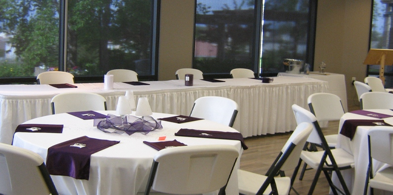 The Mountain View Room is great for smaller celebrations; weddings, parties, birthdays and meetings
