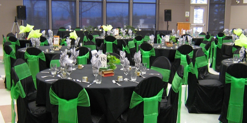 We provide tables and chairs, we are committed to helping you have the very best event!