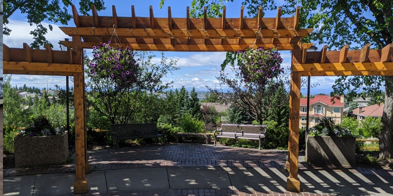 Breath in the Mountain air, and Mountain Views from our pergola area outside of our Panorama room